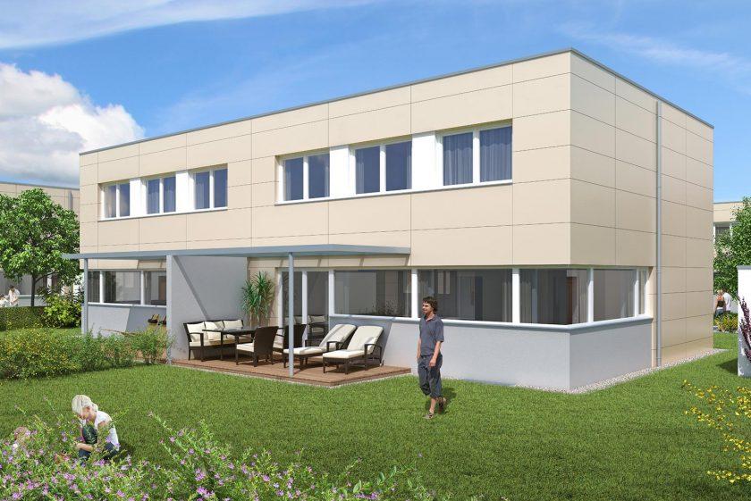 Willkommen in der Doppelhaus-anlage in Bad Schallerbach.