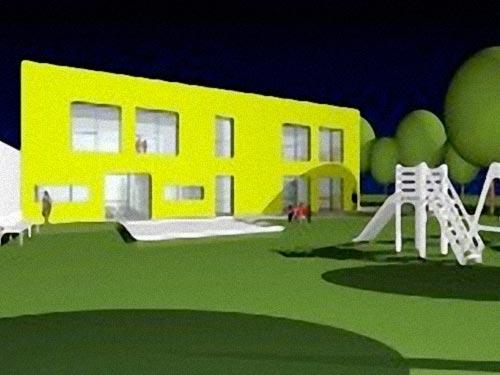 neubau kindergarten isg ried. Black Bedroom Furniture Sets. Home Design Ideas